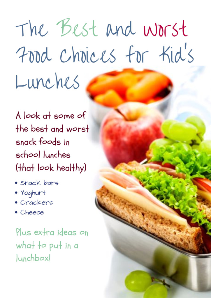The best and worst food choices for kids lunches